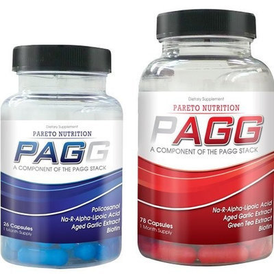 PAGG Stack by Pareto Nutrition Three Month Supply- Exact Fat Burning Ingredients and Dosing as Seen in 4 Hour Body- Made in the USA!