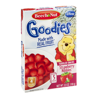 Beech Nut Goodies Toddler Snacks Disney Strawberry Nibbles - 5 CT