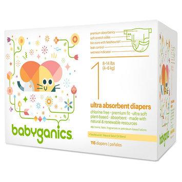 Kas Direct, Llc. Babyganics Diapers - Size 1 (116 Count), White