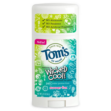 Tom's of MaineWicked Cool! Deodorant for Girls Summer Fun 2.25 Oz