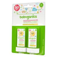 Babyganics SPF 50 Pure Mineral Sunscreen Stick - 2 ct