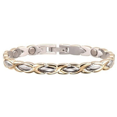 Sabona Lady Executive Dress Gold Duet Magnetic Bracelet - Large
