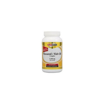 Nutraceutical Sciences Institute  NSI Vitacost Flaxseed/Fish Oil Complex -- 2500 mg per serving - 120 Softgels