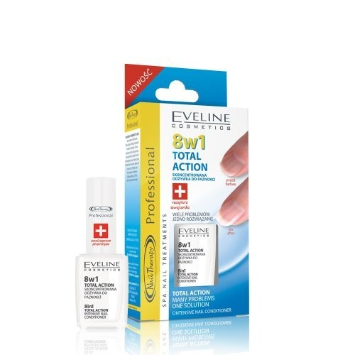 Total Action 8 in 1 Intensive Nail Conditioner Many Problems 1 Solution By Eveline Cosmetics
