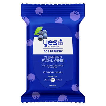 Yes To Blueberries Age Refresh Cleansing Facial Wipes - 10 Ct