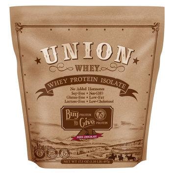 Union Protein Organic Dark Chocolate Whey Isolate Protein Powder - 1lb