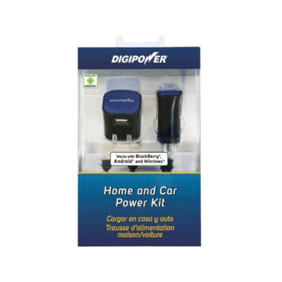 DigiPower Home and Car Power Kit for Android