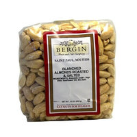 Bergin Nut Company Almonds Whole Blanched, Roasted Salted, 16 Ounce Bag