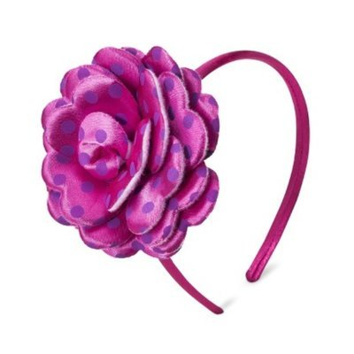 Fantasia Accessories Girls' Big Polkadot Flower Headband