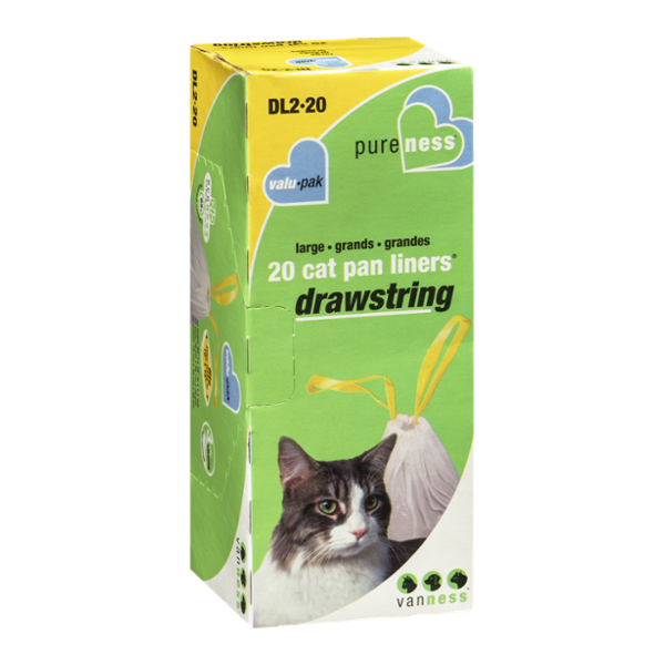 Van Ness Large Drawstring Cat Pan Liners Valu-Pak - 20 CT