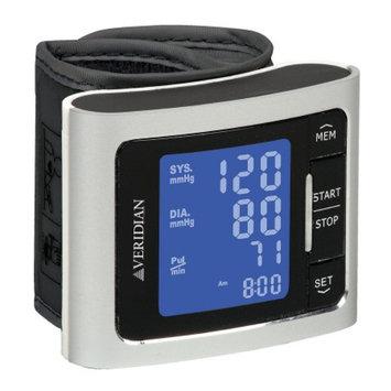 Veridian Healthcare Metallic Style Wrist Blood Pressure Monitor, Silver, 1 ea