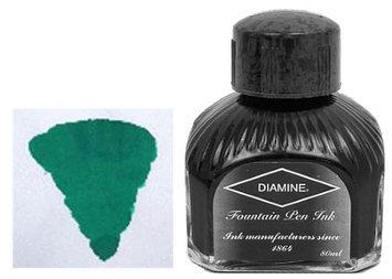DIAMINE 80 ml Bottle Fountain Pen Ink, WOODLAND GREEN