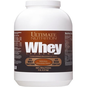 Ultimate Nutrition Whey Supreme, Chocolate, 5-Pound Tub