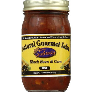 Don Sabrosa Salsa Blkbn & Corn Hot 16 oz (Pack Of 6)