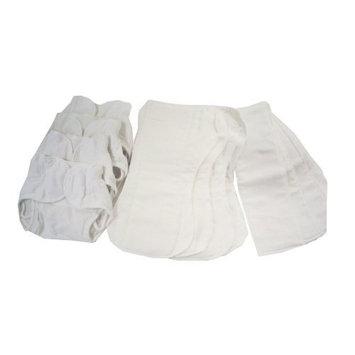 Dappi Comfy Fit Cloth Diaper Bundle, White, Large