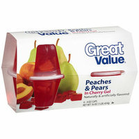 Great Value : Peaches & Pears In Cherry Gel