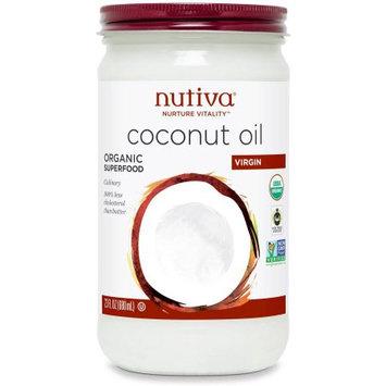 Nutiva Virign Coconut Oil, Glass Jar, 23 Count (Pack of 2)