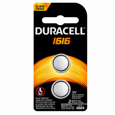 Duracell Coin Button 1616 Battery, 2-Count