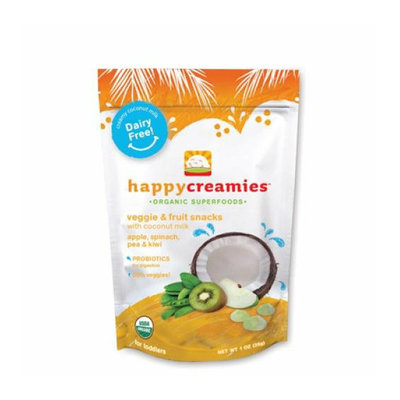 Happy Baby Happy Creamies Organic Snacks Apple Spinach Pea Kiwi Case of 8 1 oz