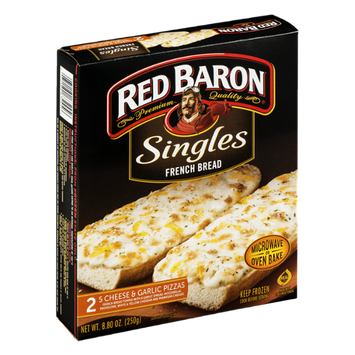 Red Baron Singles French Bread Pizza Five Cheese & Garlic - 2 CT