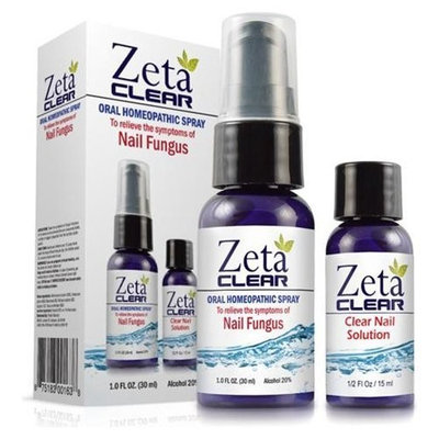 1 - ZetaClear Nail Fungus Formula (1 Fl Oz Oral Spray Bottle and 1/2 Fl Oz Clear Nail Solution Bottle) Zeta Clear