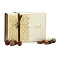 Lindt Gourmet Truffles & Pralines Gift Box, Assorted, Cream, 13.6 oz