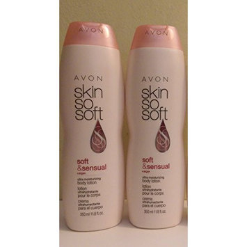 avon body lotion Lot of 2 - Avon Skin so Soft- Soft & Sensual Plus Argen Oil Body Lotion