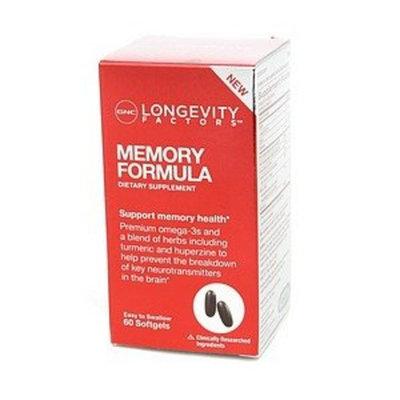 GNC Longevity FactorsTM Memory Formula 60 Softgels