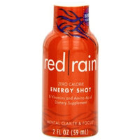 Red Rain Energy Shot, Berry Flavor, 2-Ounce Bottles (Pack of 12)