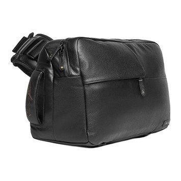 Incase X Ari Marcopoulos Carrying Case For Camera - Black - Weather Resistant - Genuine Leather - Shoulder Strap, Handle (cl58107)