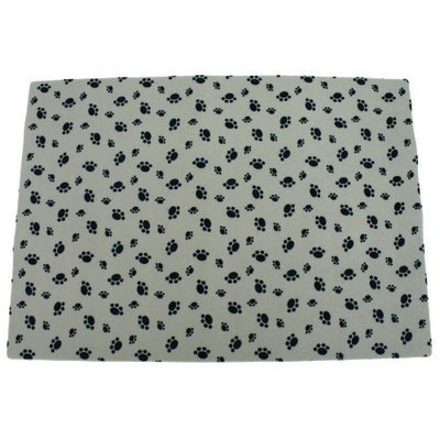 Dry Mate VDISC Drymate Litter Box Mat Grey with Pawprints