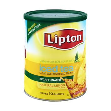 Lipton Natural Lemon Decaffeinated Sugar Sweetened Iced Tea Mix
