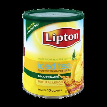 Lipton®  Natural Lemon Decaffeinated Sugar Sweetened Iced Tea Mix