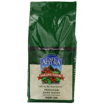 Cafe Altura Organic Coffee, Peruvian Dark, Whole Bean, 32-Ounce Bag