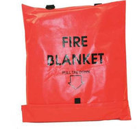 FIRST VOICE 911-83700TS Fire Blanket, Gray,84 in. L x 62 in. W