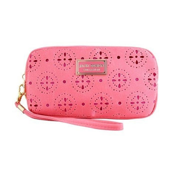 Jacki Design ABC38016CO Cosmopolitan Cosmetic Bag With Wristlet Coral