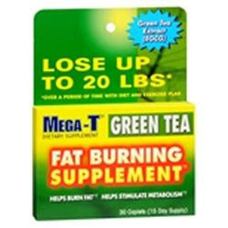 Mega-T Green Tea Fat Burning Dietary Supplement Caplets