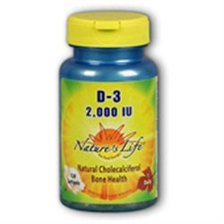 Nature's Life Vitamin D-3 - 2000 IU - 120 Softgels