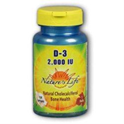 Nature's Life Vitamin D-3 - 2000 IU - 120 Softgels