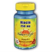 Nature's Life Niacin 250 MG - 250 Tablets - Niacin