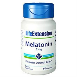 Life Extension Melatonin - 3 mg - 60 Capsules