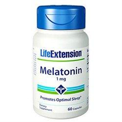 Life Extension Melatonin - 1 mg - 60 Capsules