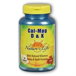 Nature's Life Cal Mag D and K - 1000 mg - 60 Tablets