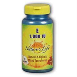 Vitamin E 1000 IU Nature's Life 50 Softgel
