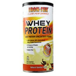 Iron Tek - Whey Protein Concentrate Powder Natural Vanilla Flavor - 14.2 oz.