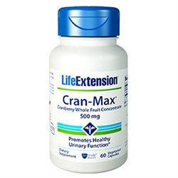 Life Extension Cran-Max Cranberry Extract - 500 mg - 60 Vegetarian Capsules