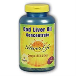 Cod Liver Oil Concentrate 1140mg Nature's Life 90 Softgel