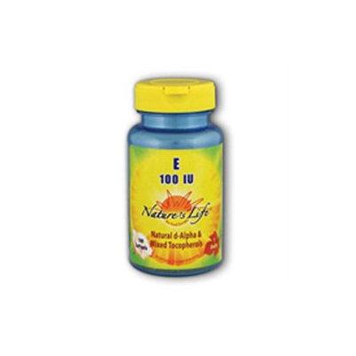 Vitamin E 100 IU Nature's Life 100 Softgel