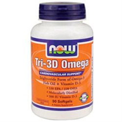 NOW Foods - Tri-3D Omega - 90 Softgels CLEARANCE PRICED