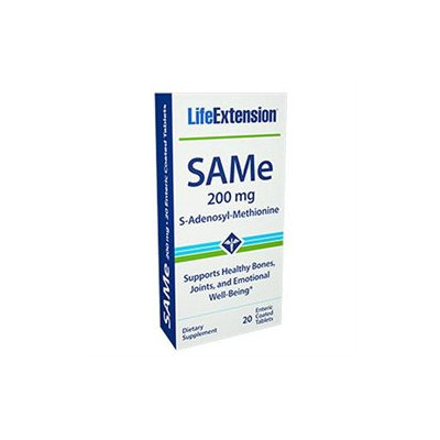 Life Extension SAMe - 200 mg - 20 Enteric-Coated Tablets